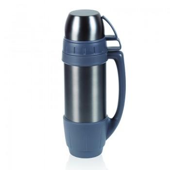 Термос MAXI, крышка-2 кружки, нержавеющая сталь, BPA FREE, 1200 мл. - 8087