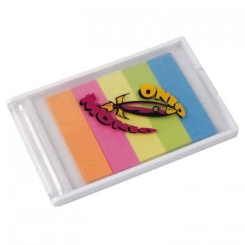 Пластиковая коробочка с пятью разноцветными стикерами - 27827
