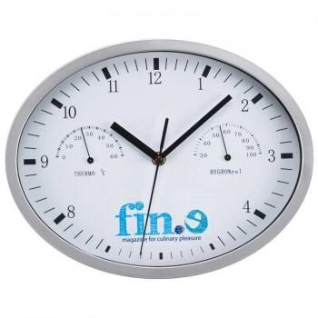 Стильные настенные часы с гидрометром и термометром - 47871