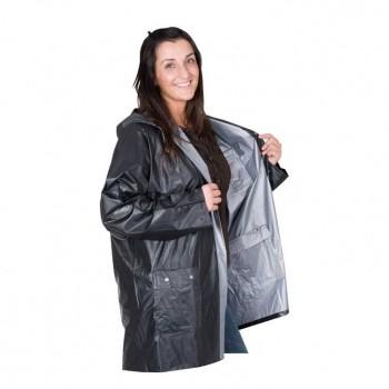 Двусторонняя дождевая куртка с капюшоном и карманами - 49205