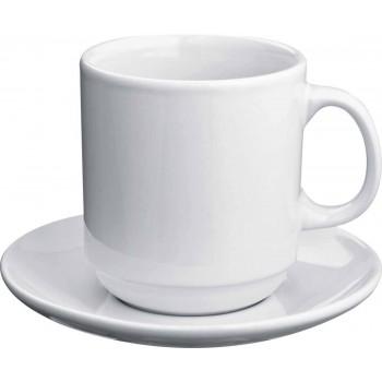 Керамическая чашка с блюдцем - 88785