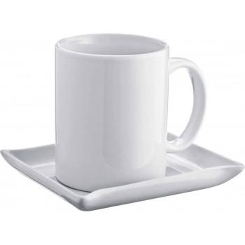 Керамическая чашка с блюдцем - 88788
