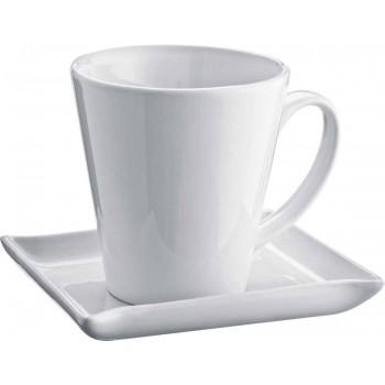 V-образная керамическая чашка с блюдцем - 88789