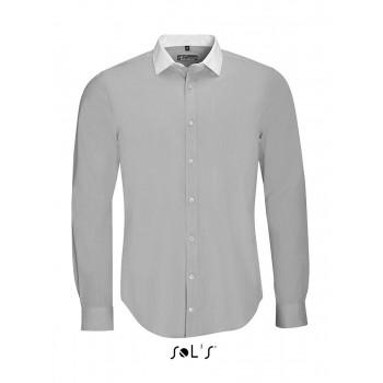 """Рубашка мужская, плетение """"нить к нити"""", с длинным рукавом SOL'S BELMONT MEN - 01430"""