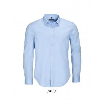 Рубашка мужская из ткани стрейч с длинным рукавом SOL'S BLAKE MEN - 01426
