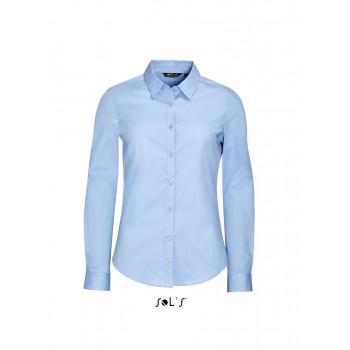 Рубашка женская из ткани стрейч с длинным рукавом SOL'S BLAKE WOMEN - 01427