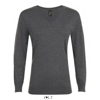 Женский пуловер с v-образным вырезом SOL'S GLORY WOMEN - 01711