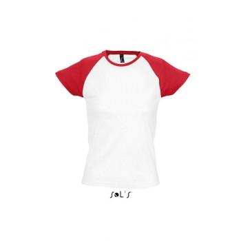 Футболка женская двухцветная с рукавом реглан SOL'S MILKY - 11195