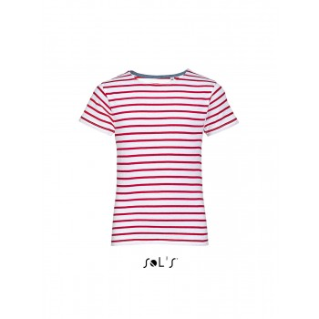 Детская футболка с круглым воротом в полоску SOL'S MILES KIDS - 01400