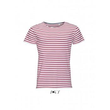 Мужская футболка с круглым воротом в полоску SOL'S MILES MEN - 01398