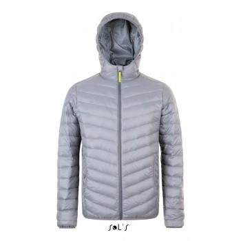 Мужская легкая стеганая куртка с капюшоном SOL'S RAY MEN - 01620