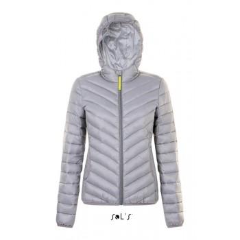 Женская легкая стеганая куртка с капюшоном SOL'S RAY WOMEN - 01621