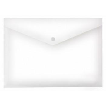 Папка конверт на кнопке А4, прозрачная