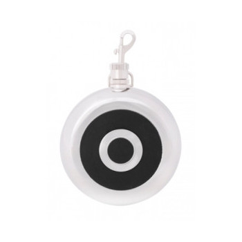 Фляга 240 мл, круглая черная O51675
