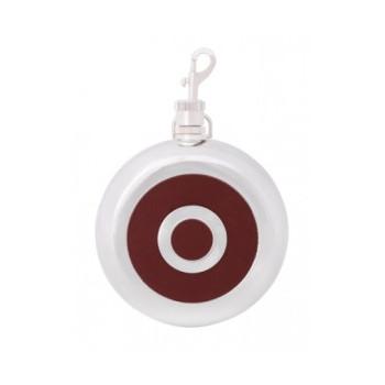 Фляга 240 мл, круглая красная O51676