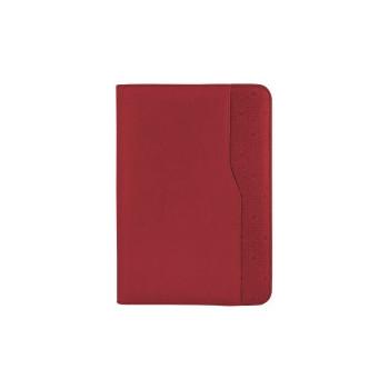 Бизнес-организатор на молнии, 135*185 мм, на кольцах, красный, бумага 80 г/м2, кремовый
