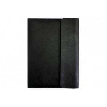 Бизнес-организатор на молнии с клапаном, 184*260 мм, на кольцах, черный, бумага 80 г/м2, кремовый