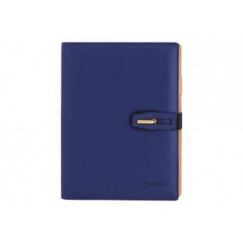 Бизнес-организатор с застежкой, 185 * 235 мм, на кольцах, синий, бумага 80 г/м2, кремовый