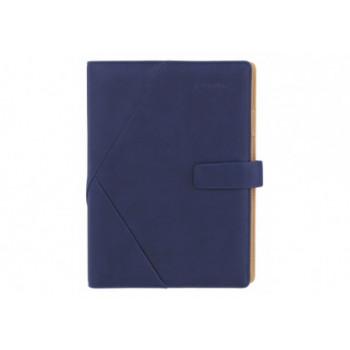 Бизнес-организатор с застежкой, 185 * 235 мм, на кольцах, синий, бумага 80 г/м2, крем