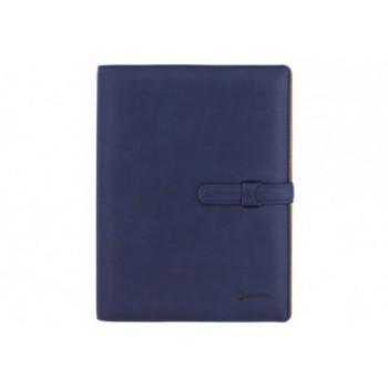 Бизнес-организатор с застежкой, 185 * 235 мм, на кольцах, синий, бумага 80 г/м2, к
