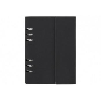 Бизнес-организатор клапаном, 185 * 235 мм, на кольцах, черный, бумага 80 г/м2, кремовый