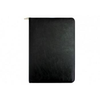 Бизнес-организатор на молнии , 184*260 мм, на кольцах, черный, бумага 80 г/м2, кремовый