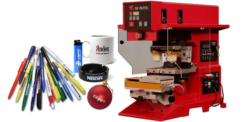 Тампонная печать на ручках, чашках, зажигалках, пепельницах и других изделиях